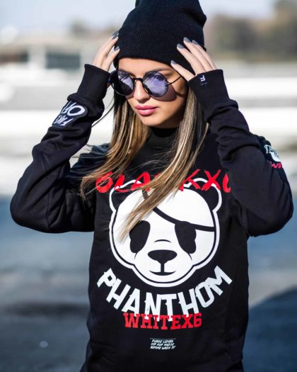Panda Black Sweatshirt