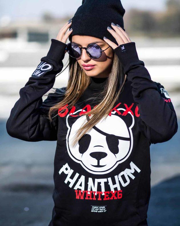 Panda Black Sweatshirt